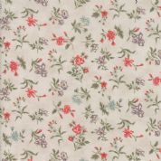 Moda Quill by 3 Sisters - 5606 - Blossom, Coral Floral on Pale Beige - 44154 11 - Cotton Fabric